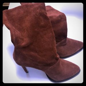 BCBG Suede Stiletto Booties